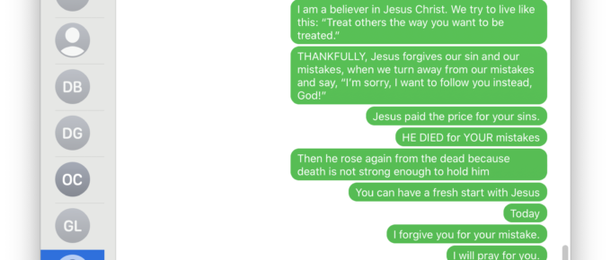 text evangelism